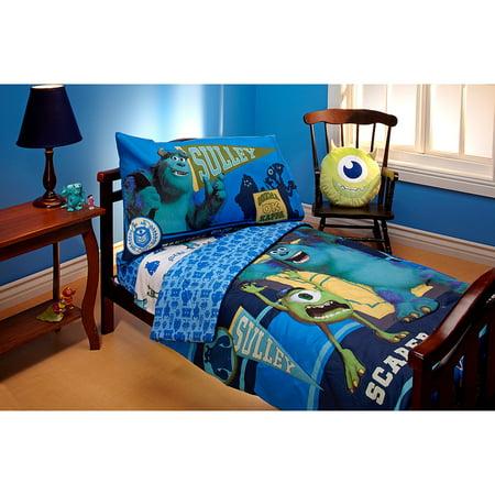 Disney Pixar Monsters Scarer in Training 4pc Toddler Bed Set ()