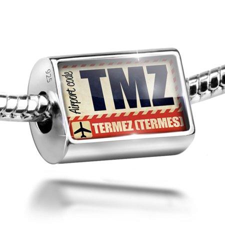 Bead Airportcode Tmz Termez  Termes  Charm Fits All European Bracelets