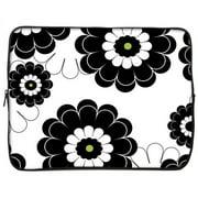 13GS2P-BLF 13 in. Designer Sleeve Case - Black Lime Floral