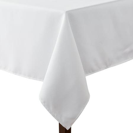 "Mainstays Fraser Fabric Tablecloth, 60""W x 84""L, Arctic ..."