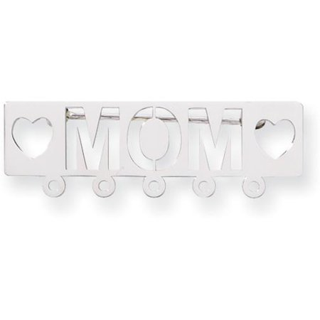 Safety Pin Charm Holder - 14K White Gold The Kids Mom Pin Charm Holder Jewelry