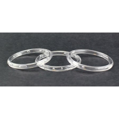 3 inch Clear Plastic Acrylic Rings 5/16 inch Thick 12 Pieces (Plastic Ring)