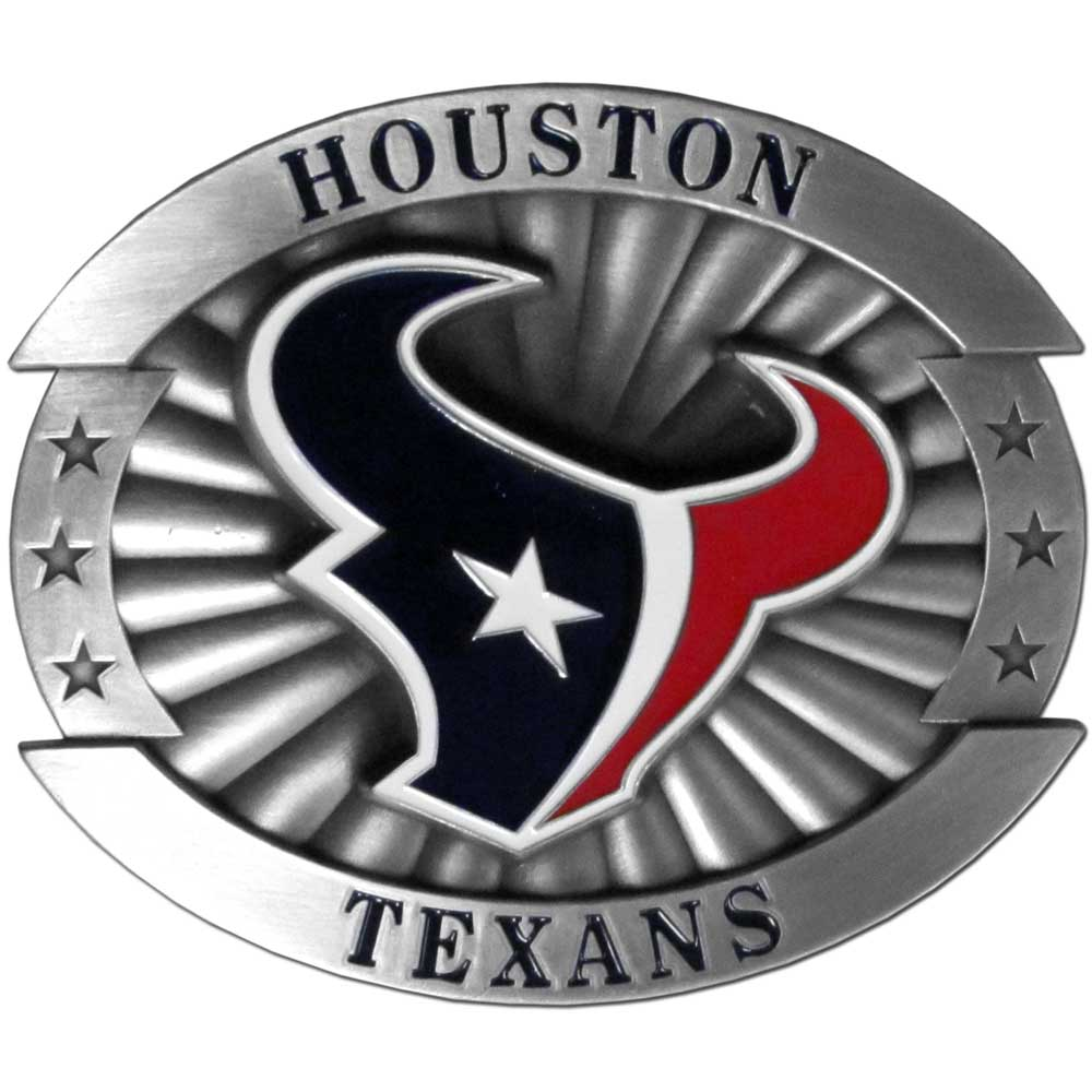 Houston Texans Official NFL Oversized Belt Buckle by Siskiyou 265105