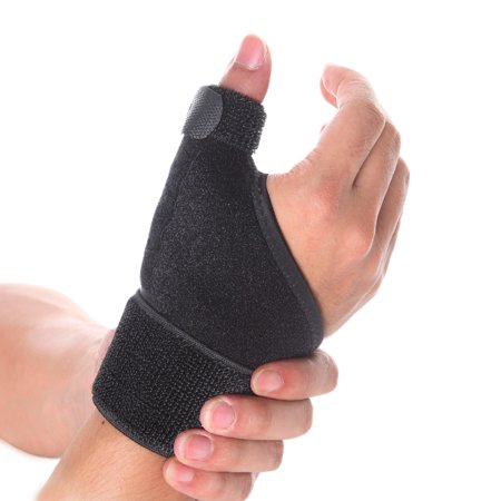 FITTOO Thumb Spica Splint- Thumb Brace for Arthritis or Soft Tissue Injuries, Lightweight and Breathable, Stabilizing and not Restrictive - Left or Right Hand