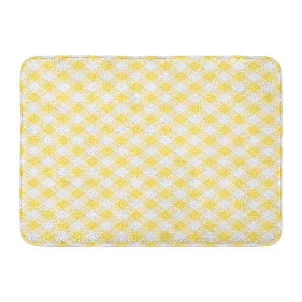 Pok Plaid White Checkered Yellow
