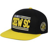 Columbus Crew SC Mitchell & Ness Between The Lines Snapback Adjustable Hat - Black - OSFA