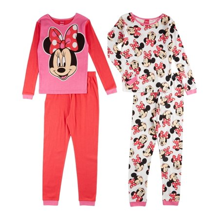 Disney Minnie Smile Pretty 4 Piece Set (Kid), Multicolor, Size: Youth 10