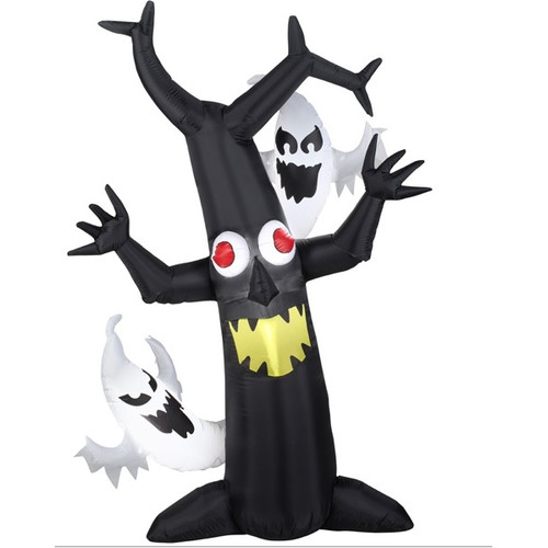 Northlight Seasonal LED Inflatable Haunted Tree Lighted Halloween Yard Art Decoration