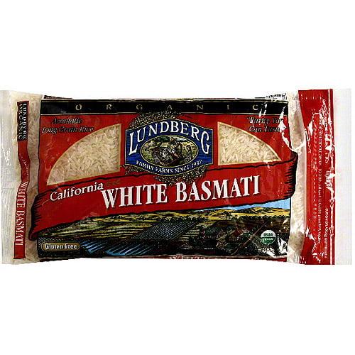 Lundberg Family Farms Organic California White Basmati Long Grain Rice, 32 oz (Pack of 6)