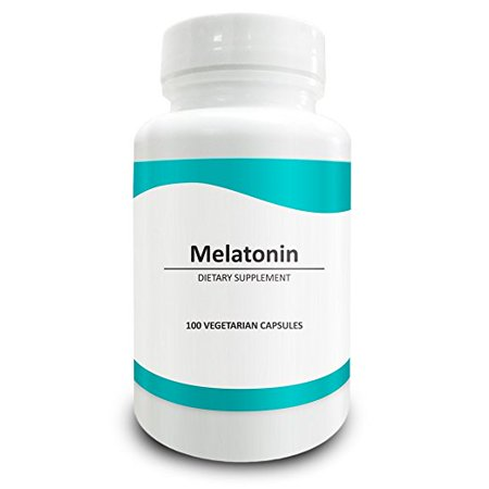 Pure Science Melatonin 10mg - High-Quality Melatonin Supplement as Natural Sleep Aid, Corrects Irregular Sleeping Pattern, Mood Support, Relaxes Muscles - 100 Vegetarian Capsules