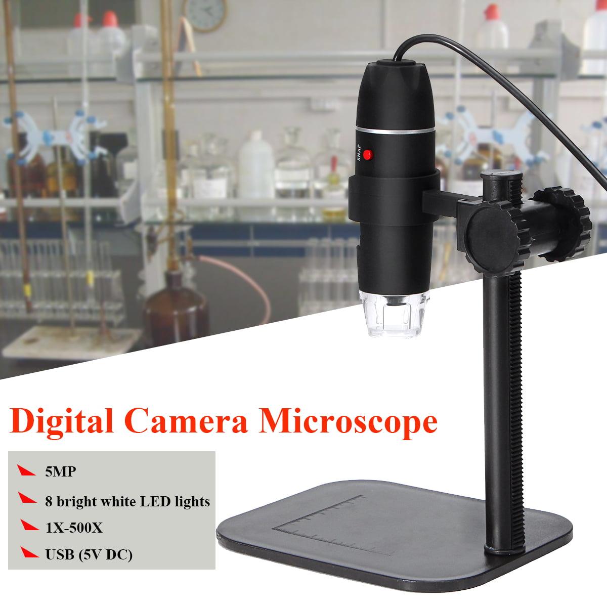 5.0MP 8 LED USB Digital Camera Microscope Magnifier Camera Vidio 1X-500X 5V DC by
