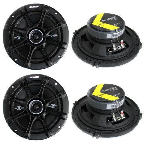 "4) Kicker 41DSC654 D-Series 6.5"" 480 Watt 2-Way 4-Ohm Car Audio Coaxial Speakers"