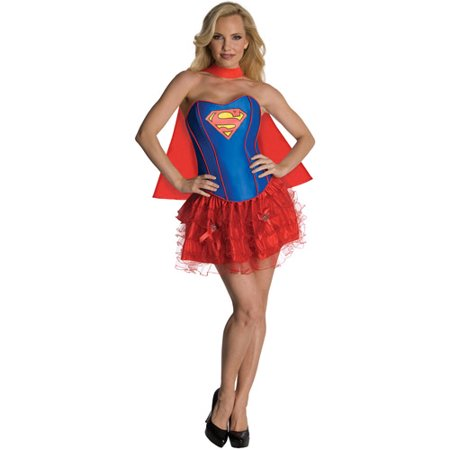 Supergirl Flirty Adult Halloween Costume - Supergirl Costume Adult