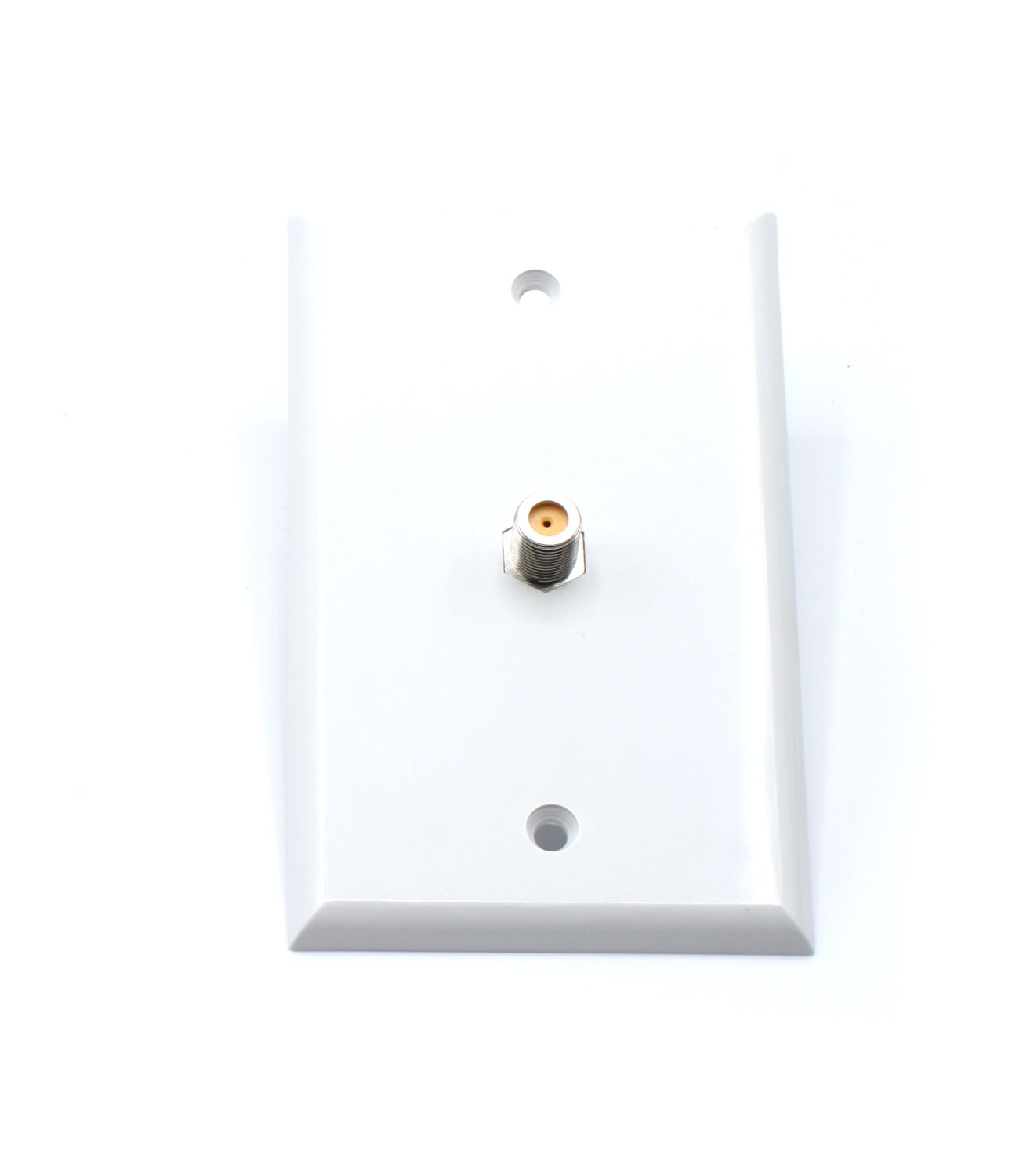 White Video Wall Jack for Coax Cable F Type Coaxial Wallplate (Wall Plate) � 3 GHz Coupler approved for Comcast,... by THE CIMPLE CO