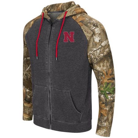 Nebraska Cornhuskers Men's Camo Full Zip Realtree Hoodie