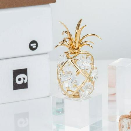 Christmas Pineapple - Matashi  24k Goldplated Genuine Crystals Pineapple Ornament
