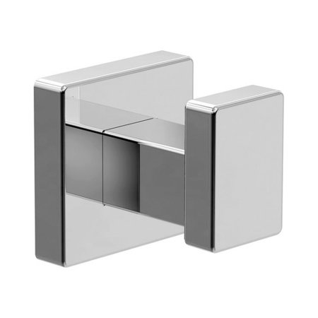Rope Robe Hook (Duro Wall-Mounted Robe Hook in Polished Chrome)