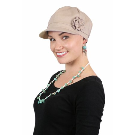 Newsboy Cap For Women Hats for Cancer Patients Chemo Headwear Linen Head - Ladies Newsboy Cap