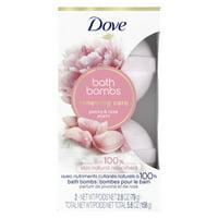 Dove Nourishing Secrets Bath Bombs Peony and Rose, 2.8 oz, 2 Ct