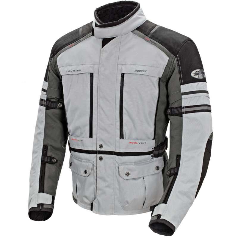 Joe Rocket Ballistic Adventure 2015 Mens Textile Jacket Silver/Gun Metal