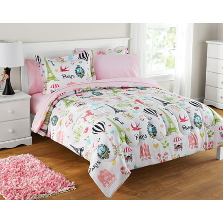 Mainstays Kids Paris Bed In A Bag 1 Each Walmart Com