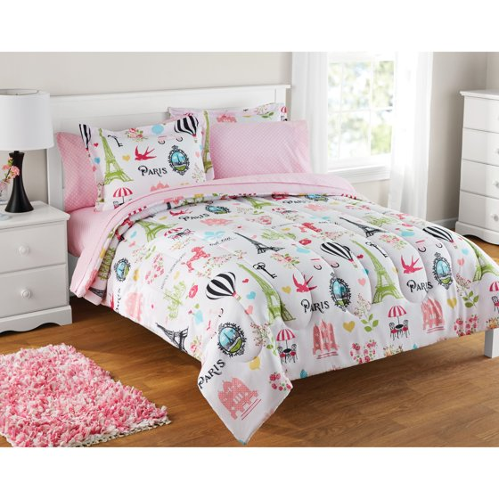 Girls Twin Bed In A Bag Set