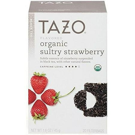 Tazo® Organic Sultry Strawberry Black Tea Tea Bags 20 ct. Box