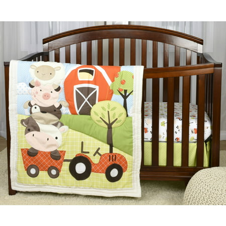 Baby S First By Nemcor Mcdonalds Farm 3 Piece Crib Bedding Set