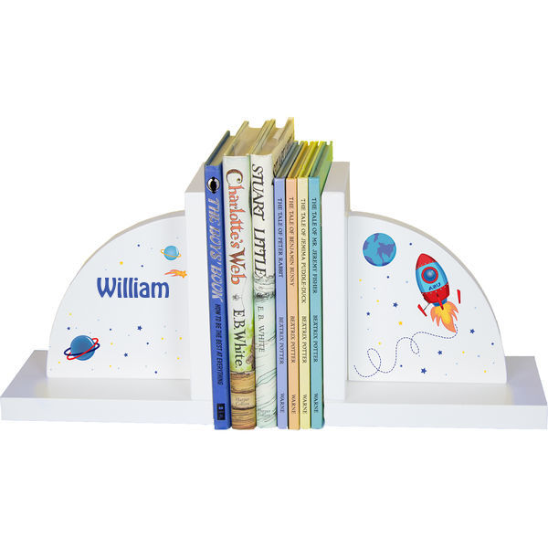 Personalized Rocket Childrens Bookends