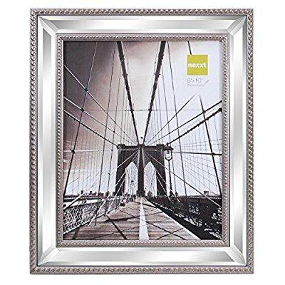 Nexxt kiera grace sutton mirrored picture frame, 8 by 10 inch ...