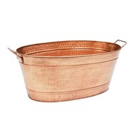 Achla C-55C Large Oval Steel Tub with Copper Plated Finish