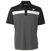 Houston Astros Cutter & Buck Chambers Polo - Black/Gray