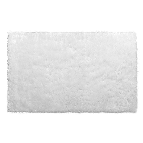 Aileen Faux Sheepskin Fur Area Rug White Rectangular 5x3