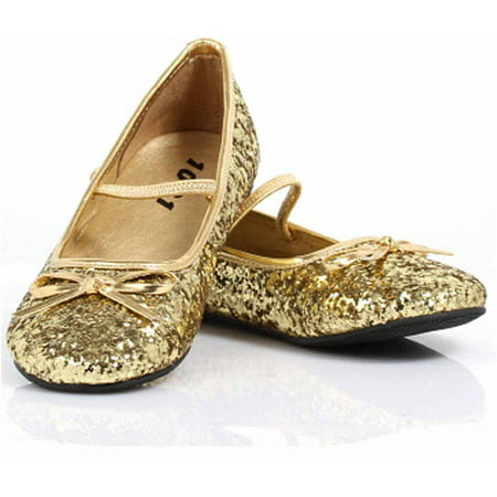 Sparkle Ballerina Gold Shoes Women's Adult Halloween Costume Accessory
