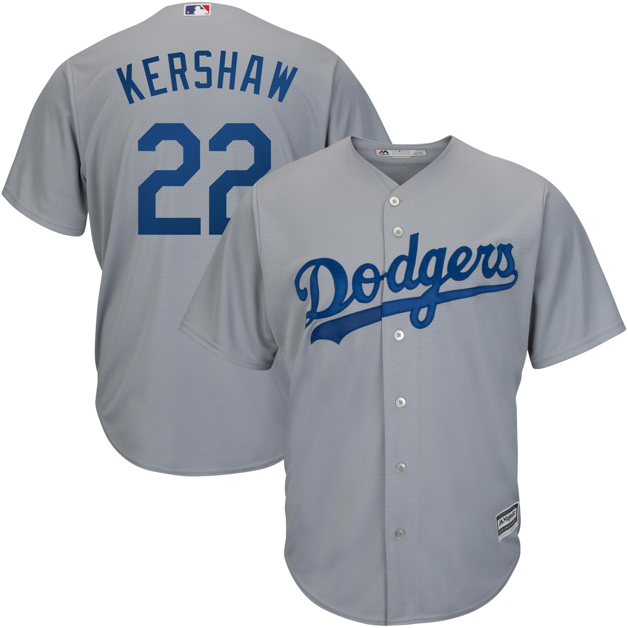 Clayton Kershaw Los Angeles Dodgers Majestic Road Official Cool Base Player  Replica Jersey - Gray - Walmart.com 15d8fead3b7