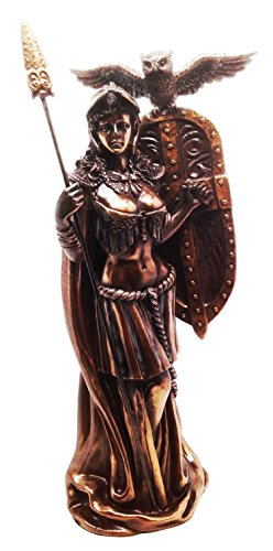 Athena Minerva Figurine Greek Roman Goddess Of Wisdom Strategy and Battle Sculpture by Gifts & Decor