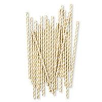Weddingstar Gold Foil X&Os Paper Drinking Straws