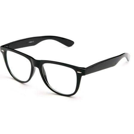 fcacce1b184 AllTopBargains - Fashion Retro Unisex Mens Womens Clear Lens Nerd Geek Glasses  Eyewear ! - Walmart.com