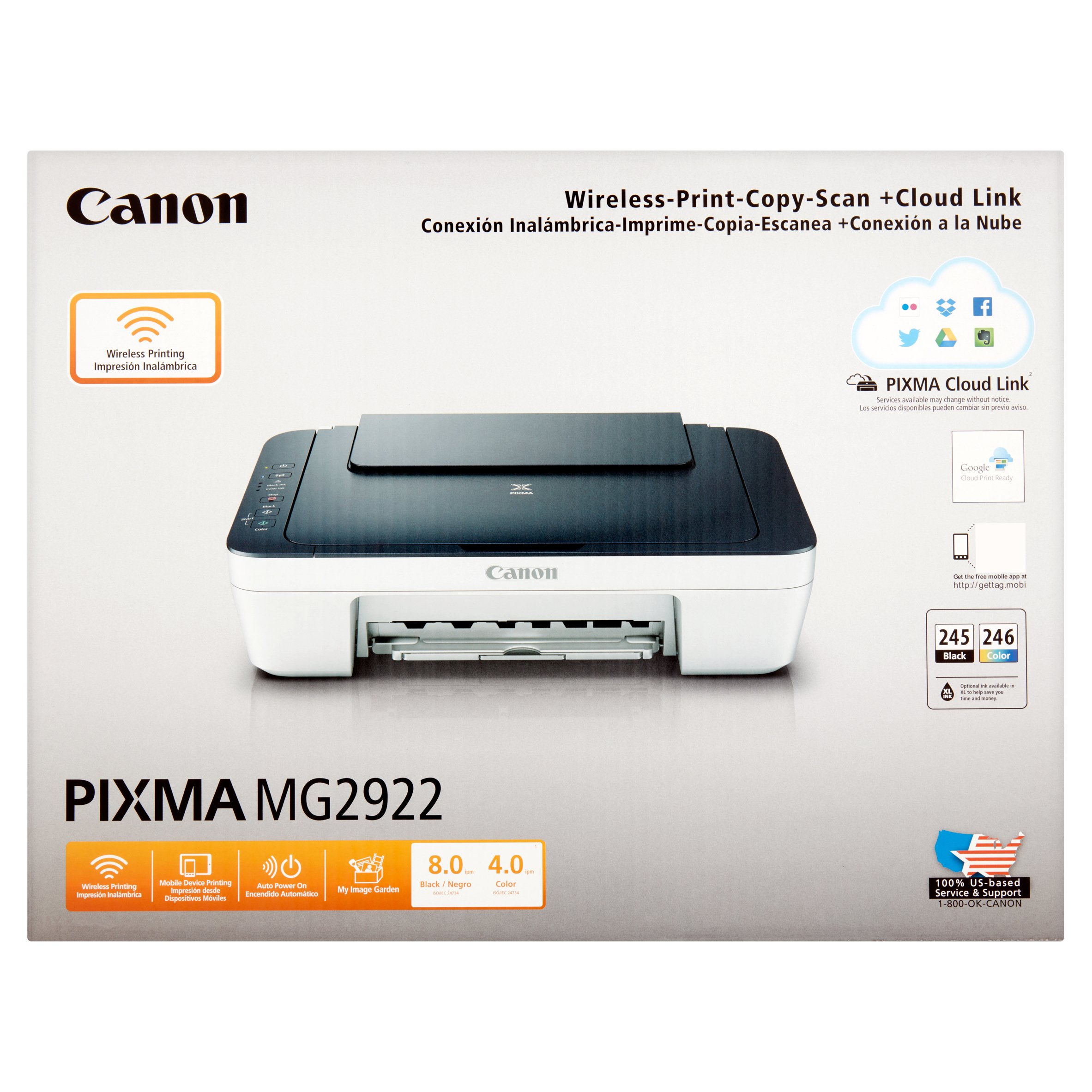 Canon PIXMA MG2922 Wireless-Print-Copy-Scan + Cloud Link