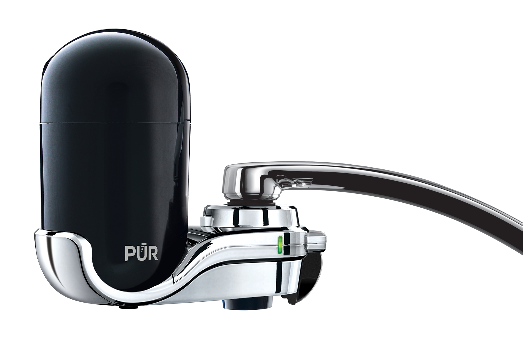 PUR Faucet Water Filter, FM-3500B, Black and Chrome by Kaz Usa, Inc.