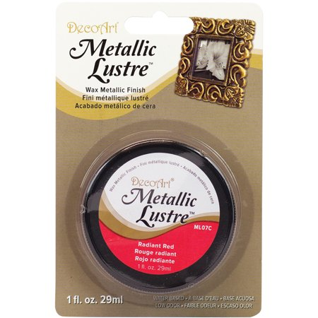 Metallic Lustre Wax Finish 1oz-Radiant Red