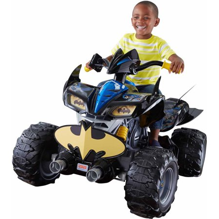 power wheels dc super friends 12 volt battery powered kawasaki batman atv. Black Bedroom Furniture Sets. Home Design Ideas