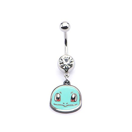 Pokemon Squirtle Head 14g 7/16 Navel Dangle Charm (Squirtle Girl)