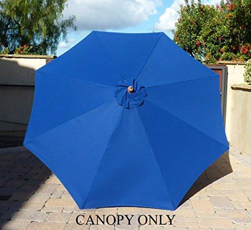 Formosa Covers 9ft Umbrella Replacement Canopy 8 Ribs in Royal (Canopy Only)