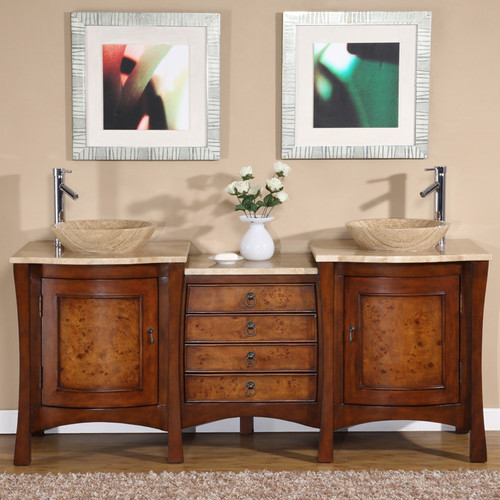 Northampton 72 Double Bathroom Vanity Set silkroad exclusive northampton 72'' double bathroom vanity set