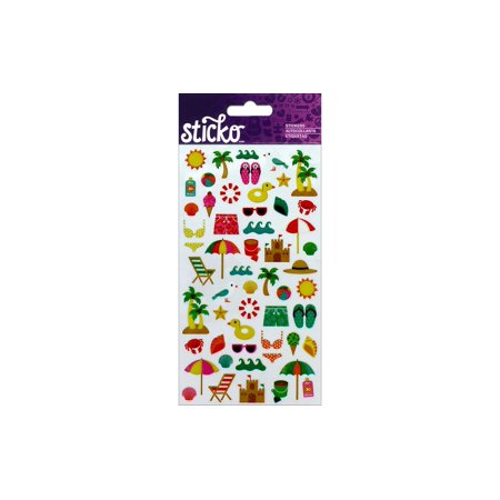 EK Sticko Sticker Mini Beach Travel Icons - Ek Success 3 D Stickers