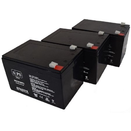 SPS Brand 12V 12Ah Replacement Battery for Power Sonic S-12120L (3 Pack)