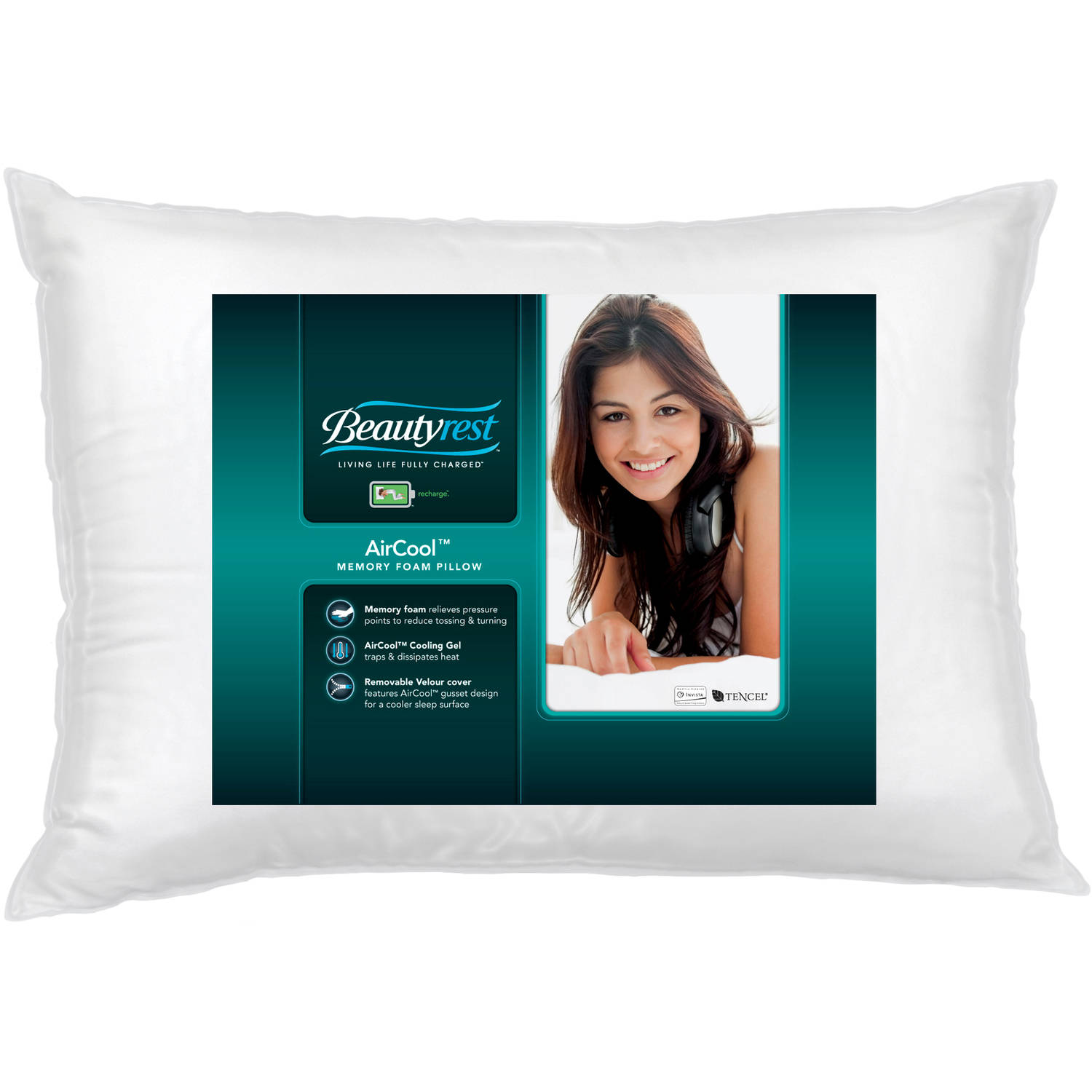 Beautyrest Air Cool Gel Pillow with Removable Cover