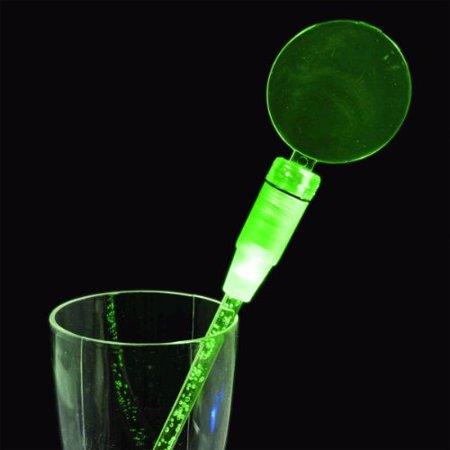 Green Cocktail Party Light Up Swizzle Stick Drink Stirrer