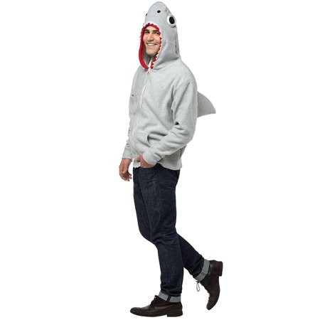 Shark Hoodie Adult Costume, Small - image 1 of 1